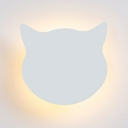 Acrylic Cat Flush Mount Light Animal Warm/White/Stepless Dimming Ceiling Lamp for Kid Bedroom