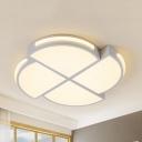 Windmill Shaped Flush Mount Light Creative Modern Acrylic Warm/White Lighting Ceiling Lamp for Child Bedroom