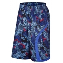 Summer New Fashion Printed Elastic Waist Basketball Shorts Casual Sport Athletic Shorts for Men