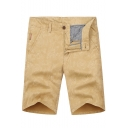Men's Summer Trendy Vintage Printed Zip-fly Casual Cotton Chino Shorts
