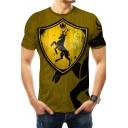 House Baratheon of Storm's End Badge Print Short Sleeve Fitted T-Shirt