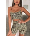 Cool Fashion Snakeskin Printed Straps Hollow Out Sleeveless Crisscross Back Womens Slim Fit Romper