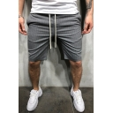 Men's Summer New Stylish Stripes Printed Drawstring Waist Slim Fit Casual Sports Shorts