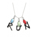 Popular Bulb Letter RUN Design Pendant Necklace for Gift