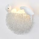 Iron Nest LED Wall Light with Bird & Egg Lovely Sconce Light in Warm/White for Child Bedroom