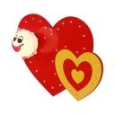 Loving Heart Wall Light Lovely Metal Sconce Light in Red Finish for Nursing Room Game Room