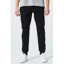 Men's Trendy Popular Camouflage Printed Patched Side Casual Sports Cotton Sweatpants