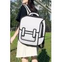 Girls Popular Cute Cartoon Comic 3D Print Simple Backpack 36*10*39cm