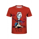 Funny Cartoon Letter I'M NOT A TOY Print Short Sleeve Slim Fit Tee