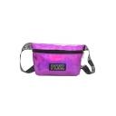 New Fashion Letter PINK Patchwork Laser Crossbody Belt Bag 23*5*13 CM