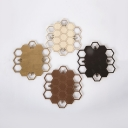 Wood Honeycomb LED Wall Light Nordic Style Sconce Lamp in Brass/Copper/Dark Coffee/Wood for Living Room