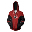 Hot Popular Red Spider Far From Home 3D Printed Long Sleeve Zip Up Hoodie