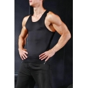 Mens Black Stretch Fit Quick Drying Breathable Training Fitness Tank Top