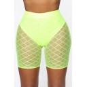 Womens Summer Hot Popular Sexy Mesh Skinnny Fit Half Legging Shorts