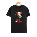 Hot Popular IT Clown Pattern Round Neck Short Sleeve Casual Tee