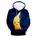 Funny Cartoon Banana 3D Printing Long Sleeve Pullover Unisex Hoodie