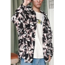 Guys Hip Hop Style Fashion Pattern Long Sleeve Loose Leisure Over Shirt