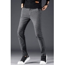Fashion Simple Plain Casual Cotton Slim Dress Pants for Men
