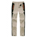 Unisex New Fashion Colorblock Patched Zipped Pocket Waterproof Utility Hiking Pants