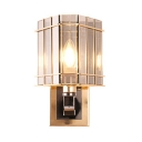 1 Light Candle Wall Light Contemporary Metal Sconce Light with Crystal Shade in Chrome for Restaurant