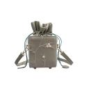 Designer Personalized Lace Floral Pattern Drawstring Square Bucket Bag 13*12*11 CM