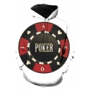 Creative Unique Circle Poker Card Printed White Long Sleeve Casual Loose Unisex Hoodie