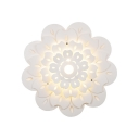 Modern Style Petal Sconce Light Metal White LED Sconce Lamp in Warm/White for Kindergarten Hallway