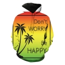DON'T WORRY BE HAPPY 3D Printed Basic Long Sleeve Loose Fitted Pullover Hoodie