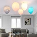 Creative LED Ceiling Fixture Balloon Glass Ceiling Mount Light for Nursing Room Game Room