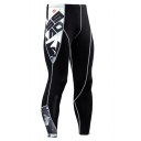 Fashion Letter Printed Quick Drying Skinny Sports Jogging Pants