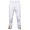New Fashion Letter Printed Tape Patched Unisex Casual Joggers Sweatpants