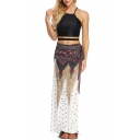Womens Summer Holiday Ethnic Style Tribal Printed Maxi Beach Wrap Skirt