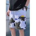 Men's Summer Trendy Popular Camouflage Printed Flap Pocket Side Leisure Cotton Cargo Shorts