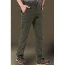 Men's New Fashion Simple Plain Multi-pocket Casual Breathable Quick-drying Cargo Pants