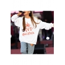 One Love Manchester Womens Round Neck Long Sleeve Pullover Sweatshirt