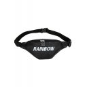 Fashion Letter Rainbow Printed PU Leather Crossbody Belt Bag 34*13*7 CM