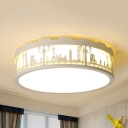 City View LED Flush Mount Light Modern Style Acrylic LED Ceiling Lamp in Warm/White for Child Bedroom