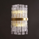 Bedroom Bathroom Swirl Crystal Wall Light Two Lights Contemporary Gold Wall Sconce