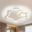 Acrylic Star Flush Mount Light Kids LED Ceiling Lamp in Warm/White for Living Room