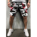 Hot Fashion Camouflage Printed Flap Pocket Slim-Fit Casual Cargo Shorts for Men