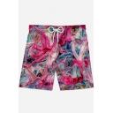 Hot Stylish Cool 3D Print Casual Drawstring Waist Sport Swim Trunks for Men