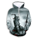 Fashion Cool 3D Comic Character Pattern Long Sleeve Sport Casual Hoodie
