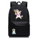 New Cartoon Unicorn Print Solid Color Oxford Cloth Backpack 45*31*13 CM