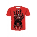 The Infinity Gauntlet Comic Hero Collection Summer Red Short Sleeve T-Shirt