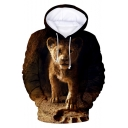 Popular The Lion King Simba 3D Printed Basic Long Sleeve Pullover Hoodie