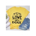 ALL YOU NEED IS LOVE Summer Popular Letter Print Short Sleeve Casual Loose T-Shirt