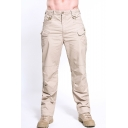 Men's Popular Simple Fashion Solid Color Multi-pocket Tactical Trousers Cargo Pants