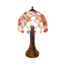 Moroccan Umbrella Desk Light Single Light Acrylic Table Light with Multi-Color Crystal for Bedroom