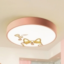 Cat/Doggy Living Room Ceiling Mount Light Acrylic Nordic Style LED Ceiling Lamp with White Lighting