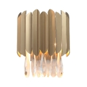 Teardrop Crystal Living Room Wall Light Metal Modern Luxurious Wall Lamp in Gold Finish